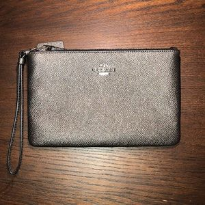 Gray Coach clutch/wallet